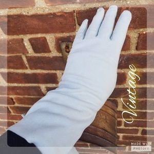 Vintage French  washable suede gloves 6.5